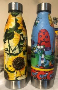 Picture of two Kriste-lee original water bottles