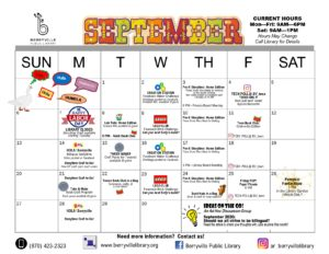 September program calendar