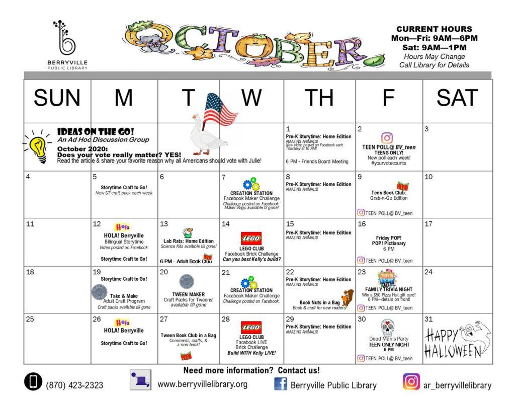 Berryville Library program calendar