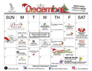 December program calendar