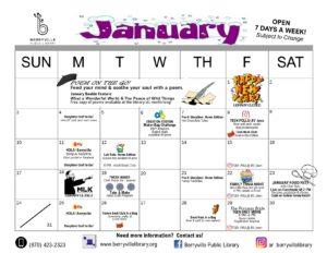 January Program Calendar