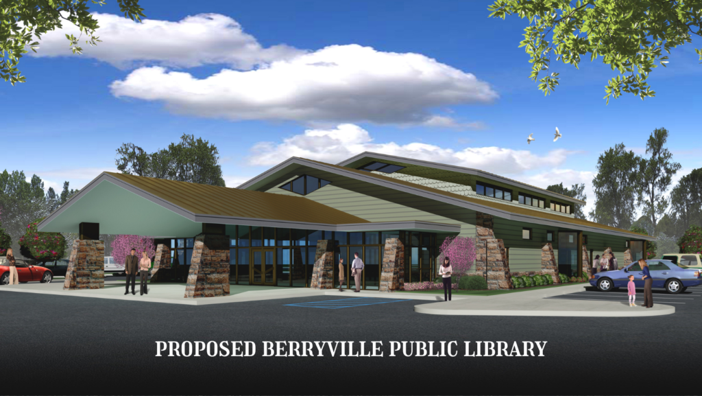 Exterior view of the proposed Berryville Public Library