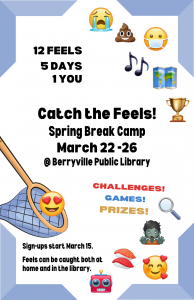 Spring Break Camp flyer