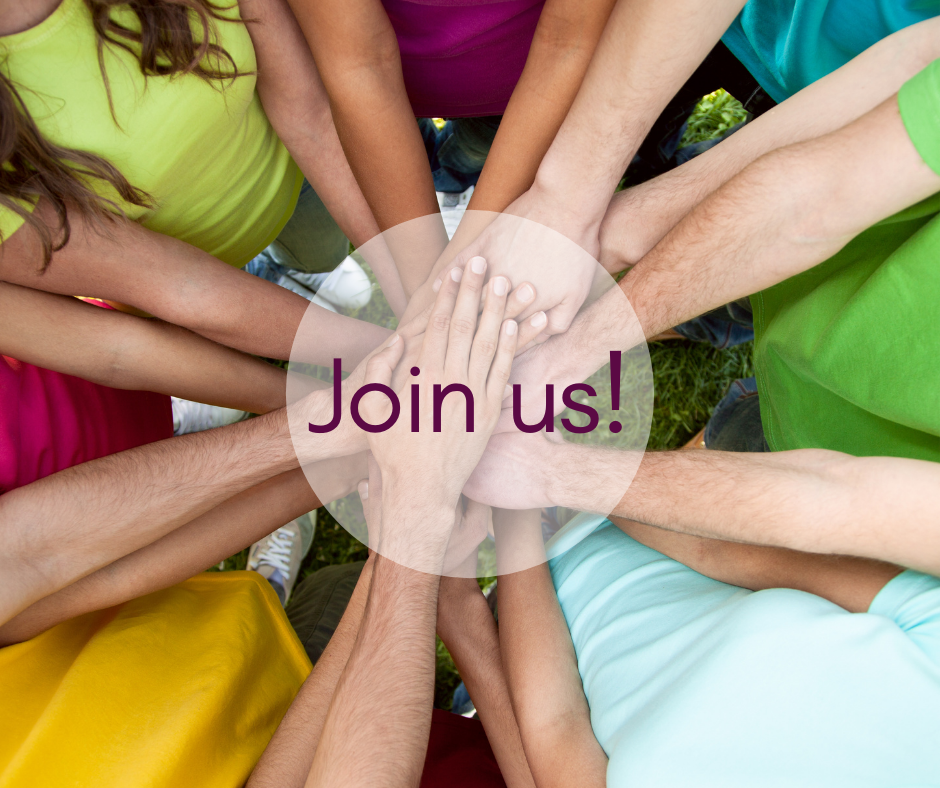 Hands coming together urging people to join the Friends!