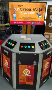 Trivia game kiosk at Berryville Library